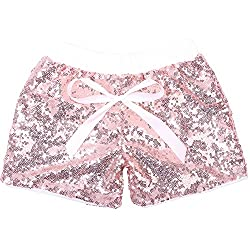 Rose Gold Sequin Shorts Glitter on Both Sides