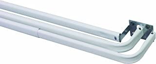 Kenney Triple Curtain Rod, 28 to 48-Inch, White