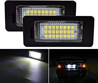LED License Plate Light Lamp Safego 2Pcs for BMW E82 E88 E46 E90 E91 E92 E93 F30 F31 F32 E39 E60 E61 F11 F25 E70 F15 3W 12V 24SMD LED White Rear License Tag Lights Direct Assembly Replacement …