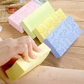 3PCS Ultra Soft Exfoliating Sponge Shower Brush Gentle Exfoliation Improve Skin's Health and Beauty Wet or Dry Brushing Ba...