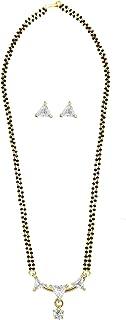 Efulgenz - Ciondolo tradizionale in stile indiano Bollywood, stile etnico americano, con catena e orecchini da donna