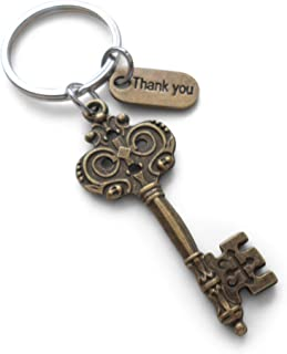 Bronze Key Keychain Employee Appreciation Gift, Volunteer Gift - You Are a Key Part of Our Team