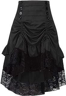 Women Steampunk Gothic Victorian High Low Skirt