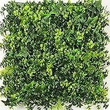 UNICESPED Jardín Vertical Artificial Exterior e Interior Lavandula Lvy Decoración Pared Plantas y Flores Pack 4 Unidades 50x50 centimetros