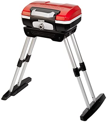 "Cuisinart CGG180 CGG-180 Petit Gourmet Gas Grill with VersaStand, Red, 31.5"" H x 16.5"" W x 16"" L"