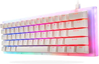 Womier K61 60% Mechanical Keyboard, Hot Swappable Keyboard, Gateron Switch Dual RGB Backlit Compact 61 Keys for PC PS4 Xbo...