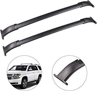 SCITOO fit for 2015-2018 Cadillac Escalade/Cadillac Escalade ESV/Chevrolet Suburban/Chevrolet Tahoe/GMC Yukon/GMC Yukon XL Aluminum Alloy Roof Top Cross Bar Set Rock Rack Rail