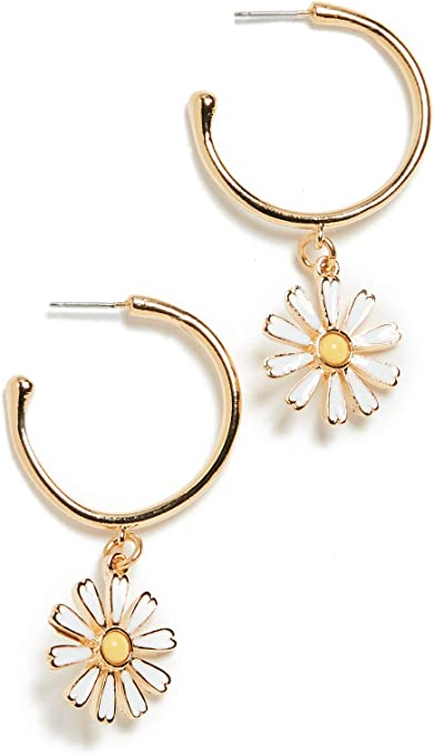Kenneth Jay Lane Women's Post Hoop Earrings
