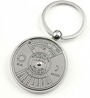 Axmerdal Metal Perpetual Calendar Circular 50 Years 2010-2060 Cute Creative Gift Car Key Chain Key Ring Keychain