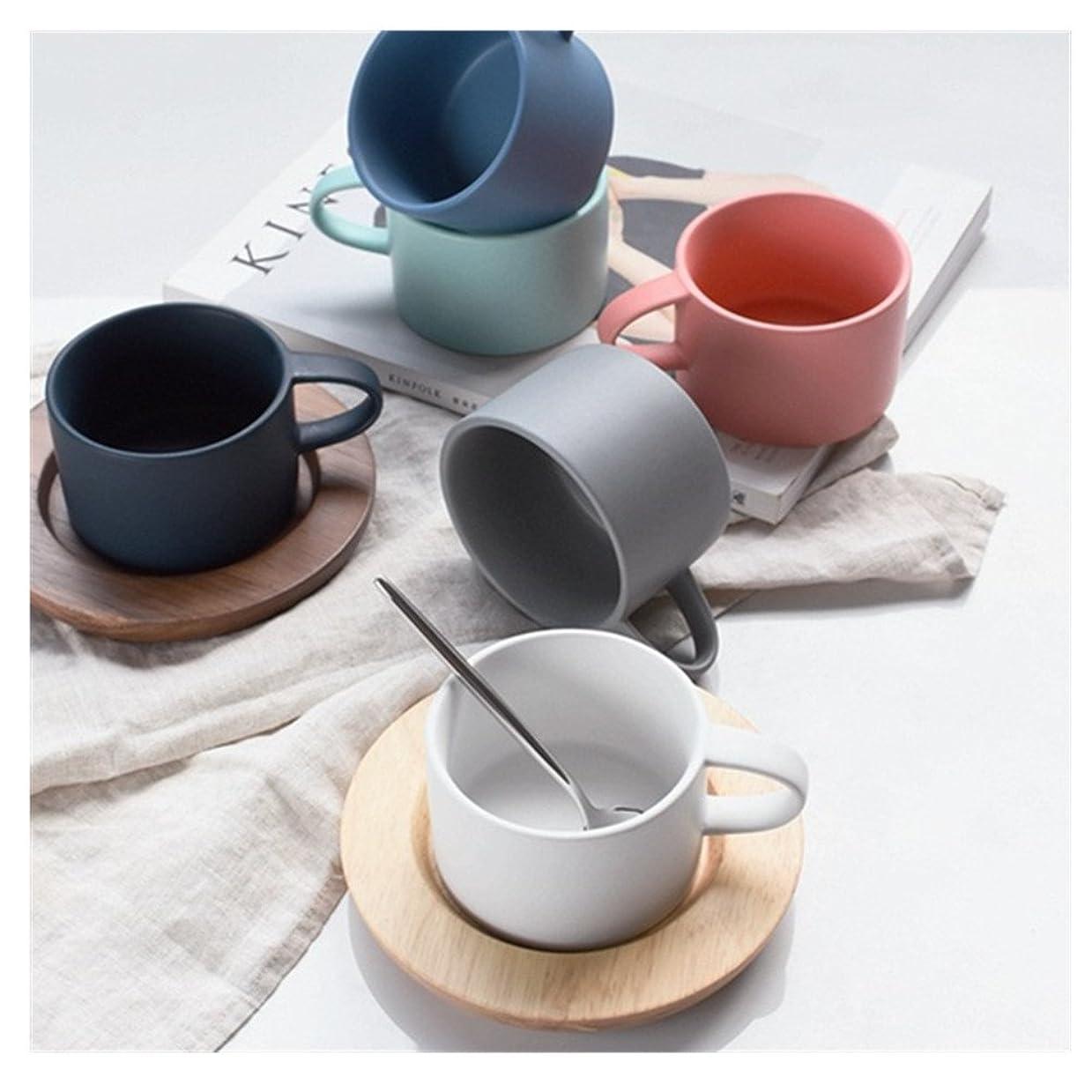 どういたしまして治療正気カップ コーヒーカップ セット ソーサー 陶器 ヨーロッパ 風 シンプル 碗皿セット (グレー)