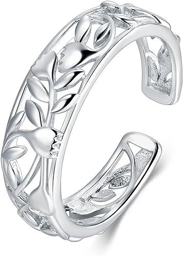 Boruo 925 Sterling Silver Ring COMFORT FIT ANILLO DE BODAS ANILLO TAMAÑO S 2mm