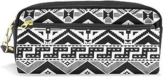 Domoko /él/éphant indien ethnique Mandala Cuir PU Stylo Pochette Housse Trousse Maquillage de voyage Sac d/école
