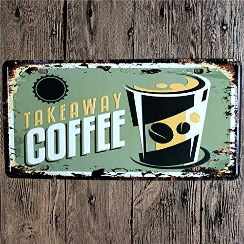 jufn gutyhkj retro metalen metalen plaatje koffie teken plak bar decoratie Pub Club decoratieve wooncultuur 30*15cm A63