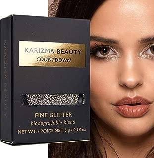 Countdown Biodegradable Fine Glitter // Karizma Beauty Silver Face Glitter Loose Eyeshadow