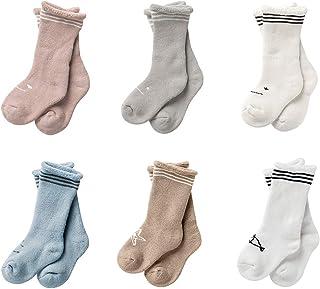 Cute Baby Socks Boys Girls Super Soft Warm Cotton Socks Newborn Toddler Winter Floor Socks Kids Anti-skid 0-3 Years 3/6 Pack