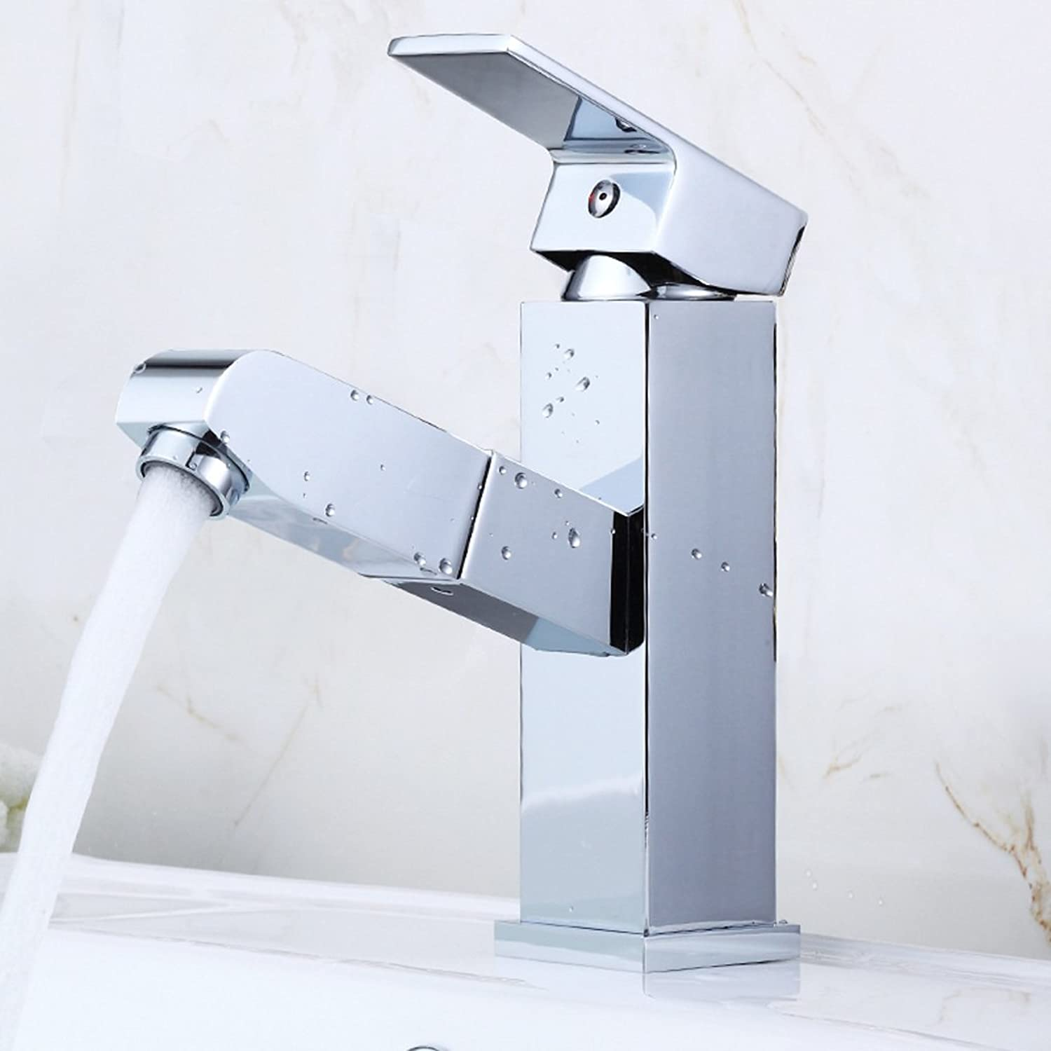 DLewiee All Copper Faucet Hot And Cold Basin Taps Bathroom Basin Wash Basin Dragon Universal redation May Pull-Out Faucet