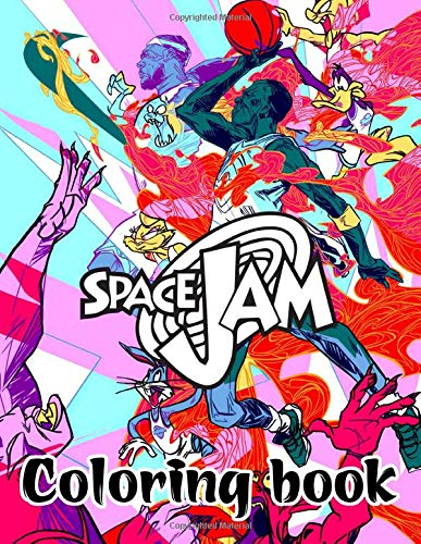 Space Jam coloring book: Michael Jordan Animation Coloring Book For Boys Adults Stress Relief Gift