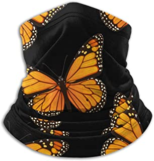 Monarch Butterflies Art Pattern Neck Warmer Gaiter Balaclava Ski Mask Cold Weather Face Mask Winter Hats Headwear for Men Women Black