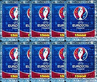 2016 Panini UEFA EURO France Sticker Collection with 10 Factory Sealed Sticker Packs & 50 Stickers! Look for Top Stars including Ronaldo, Muller, Bale, Rooney, Pirlo & Many More! Imported from Europe!