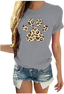 Damen Oversized Printed Tshirts Kurzarm O-Ausschnitt Casual Sommer Mode Pullover Oberteile Sexy Elegant Für Frauen Teenager Mädchen Mode Hemdbluse große größen Tee Tops