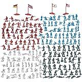 Juego de 200 piezas de Figuras Militares - Soldados del ejército de juguete en 4 colores, Juego de la II Guerra Mundial con 4 banderas