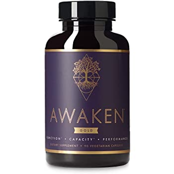 Awaken Gold Premium Nootropic Supplement | Advanced Brain Nutrition | Improve Memory & Learning | Enhance Focus & Clarity | Intensify Drive | 11 Premium Ingredients | 45 Servings