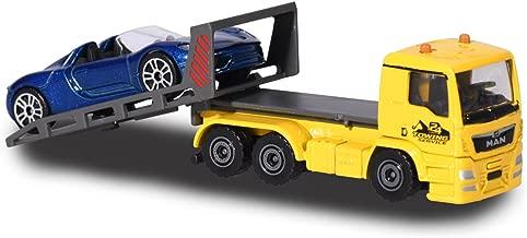 Majorette Mini 212057520Q01City Set Man TGA Tow Truck Lorry with Porsche, die-cast