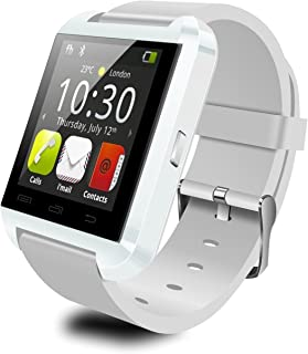 Colofan Smartwatch Luxury U8 Bluetooth Smart Watch WristWatch Phone with Camera Touch Screen for IOS Iphone Android Smartphone Samsung Smartphone (white)