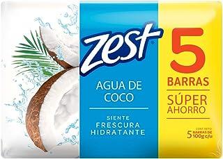 ZEST Jabón en Barra Agua de Coco, 5pack de 100 g cada barra