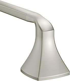 Moen YB5124BN Voss Collection 24-Inch Bathroom Single Towel Bar, Brushed Nickel