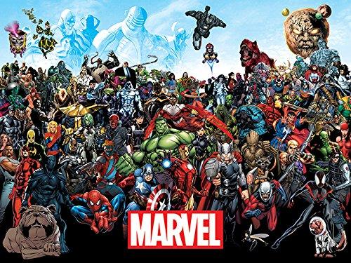 Marvel Comics Lienzo de Universo, Multicolor, 60x 80cm