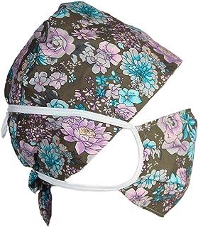 KaMoore النساء الرجال القطن قابل للتعديل قبعة منتفخة وشاح الرأس قبعة العمل