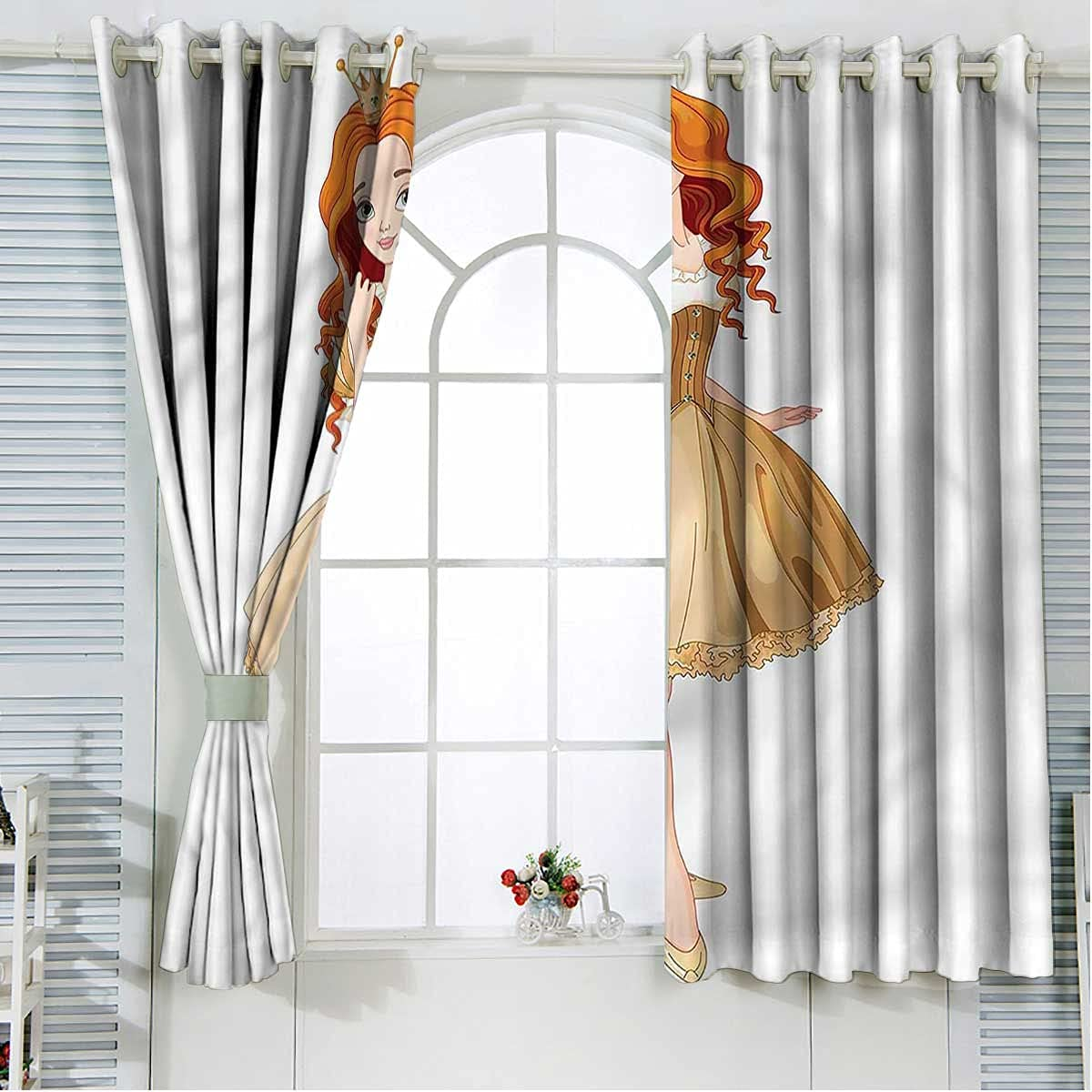 Princess Darkening Max 83% OFF Blackout Curtains 108 Manufacturer OFFicial shop Yellow Inch Length Dres