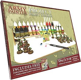 The Army Painter | Paint Project Station | Station de Projet Pour 30 Peintures Warpaints 7 Pinceaux et 1 Gobelet à Eau