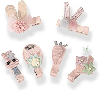 Baby Girls Hair Clips - 6pack Cute Girl Hair Clip Bows - Suitable For Girls Aged 0-6 Newborn Infants Toddlers Baby