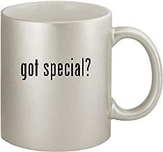 got special? - Ceramic 11oz Silver Coffee Mug, Silver