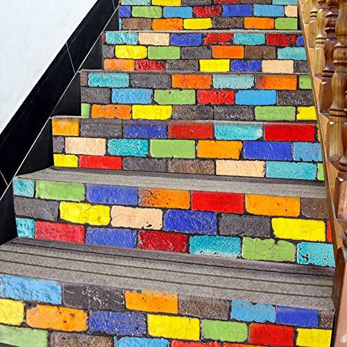 Pegatinas de escaleras creativas 5D etiqueta engomada de la - Etiqueta engomada tridimensional etiqueta engomada impermeable desprendible de la escalera de la simulación 3D