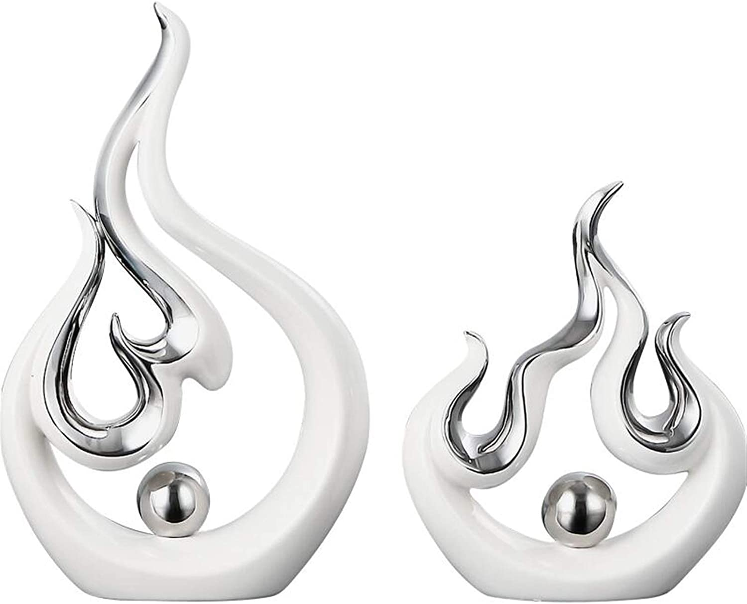 ZYLE Modern Creative White Fire Max 82% OFF Home Discount is also underway L Ceramic Accessories Shape