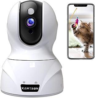 KAMTRON Cámara de Seguridad inalámbrica, HD WiFi Cámara de Seguridad cámara de vigilancia IP Home Monitor con visión Noctu...