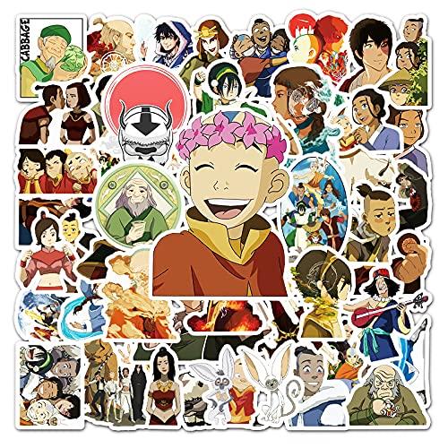ZNMSB 50 Pegatinas de Personalidad de Dibujos Animados de Avatar Pegatinas de decoración de Scooter de Coche para Maletero de Ordenador portátil