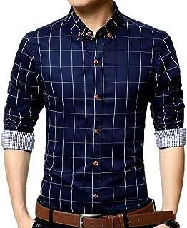 (ナガポ)NAGAPO メンズ チェック 柄 シャツ 長袖 カジュアル ワイシャツ 大きいサイズ も ビジネス ボタン