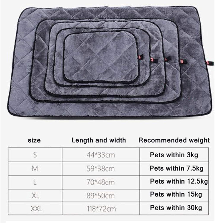 Dog mat cat Kennel mat pet Cotton pad Blanket Blanket Quilt bite Resistant Winter Four Seasons Supplies (color   C, Size   M)