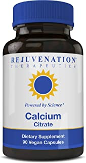 Calcium Citrate Dietary Supplement, Bone Health Capsules for Osteoporosis, 90 ct