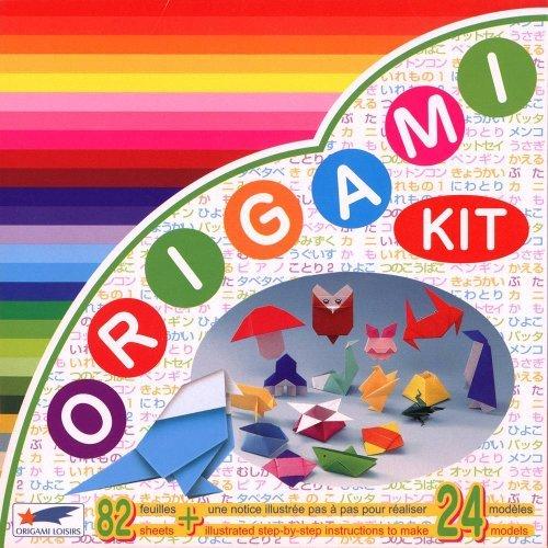 Origami Loisirs - Loisirs Créatifs - Origami Kit 24 Modèles - Notice Illustrée + 82 Feuilles de Papier Origami - 15cm x 15cm
