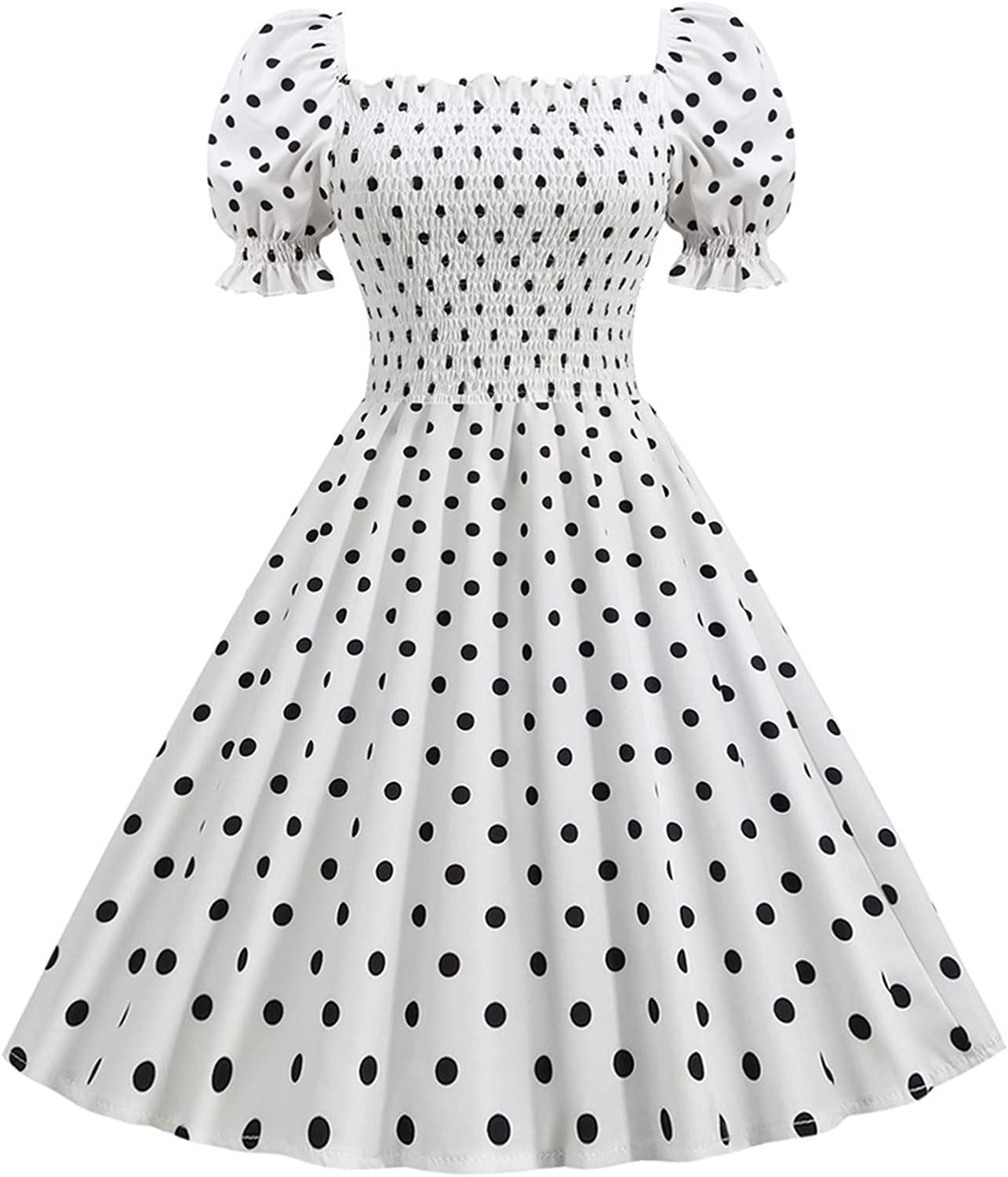 Womens Vintage Cocktail Year-end gift Ranking TOP14 Party Swing Dot Retro Polka Dress