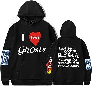 Men's Kanye Hoodie Lucky Me I See Ghosts Hooded Sweatshirts Pullover Hoodies