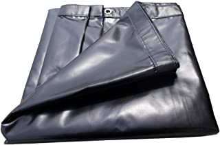 XTARPS - 10 x 12 -Water Proof, Heavy Duty Vinyl Tarp, 18 OZ Gauge, Great for Truck Cover, Equipment Cover, Roof Cover, Construction Cover, Kennel Cover, Hay Cover, Camping Cover