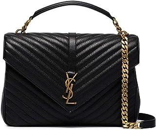 5c826a2922a Love You Bags YSL KATE MONOGRAM Women's Black Calfskin Chain Gold Shoulder  Bag