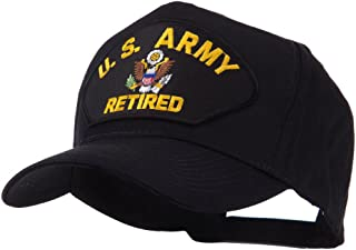 e4Hats.com Retired Military Large Embroidered Patch Cap