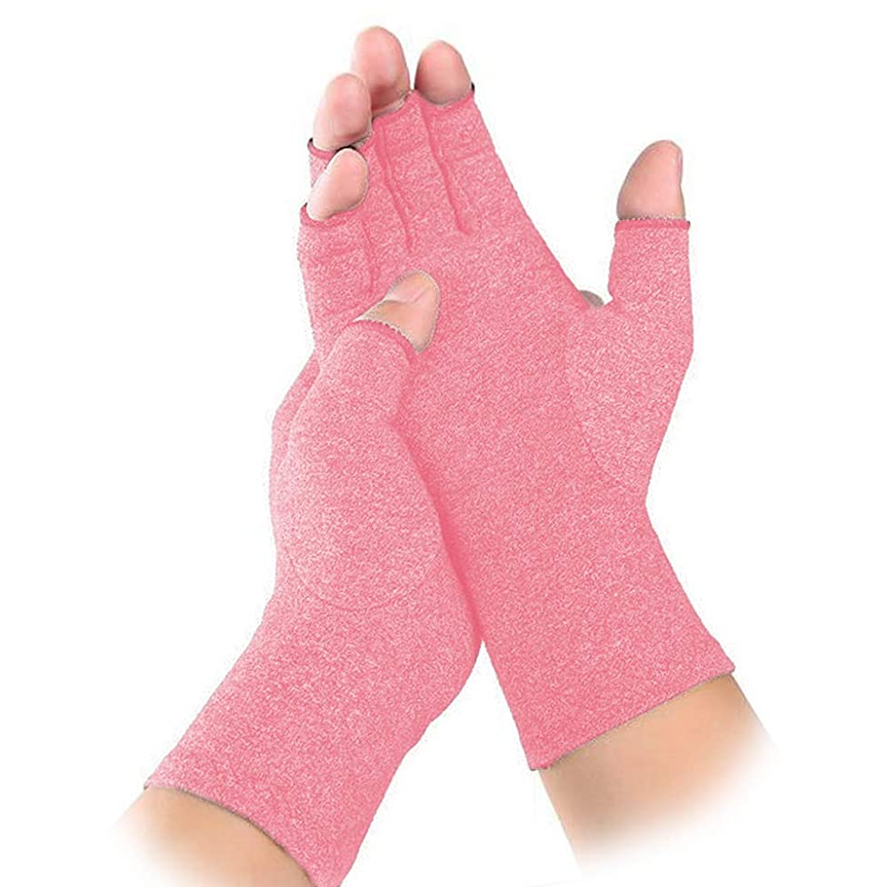 Non-Slip Arthritis Gloves Comfy Fit, Breathable & Moisture Wicking Fabric, Men & Women Open Finger Hand Compression Gloves for Joint Pain Symptom Relief, Ease Muscle Tension